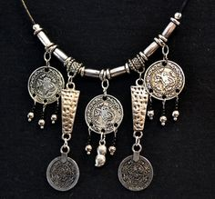 Silver Coins Necklace Tribal Necklace Ancient Coins by LKArtChic