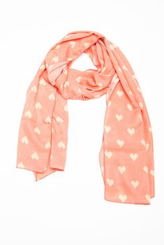 Hearts Scarf.. So cute!