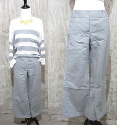Dalia Collection Designer Gray Khaki Pants, Business Casual Wear, Ladies 10P #Dalia #CasualPants
