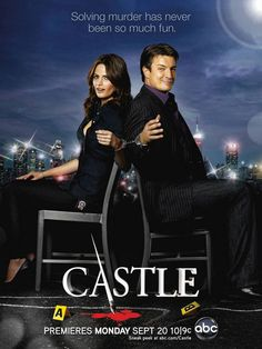 """My favorite TV duo- Richard Castle and Kate Beckett in """"CASTLE"""". Watch it on ABC on Mondays @10/9c."""