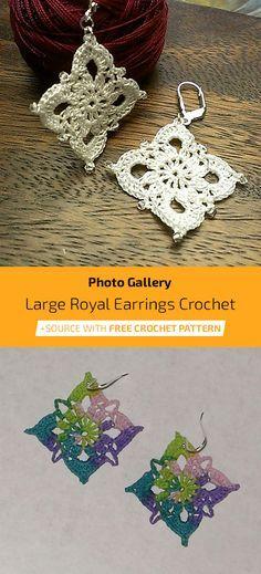 Crochet Jewelry Patterns, Easy Crochet Patterns, Sewing Patterns Free, Free Sewing, Crochet Jewellery, Free Pattern, Crochet Thread Size 10, Wire Crochet, Cat Crochet