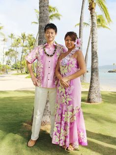 This page is dedicated to Matching Hawaiian Clothing for Couples. Find Matching Hawaiian Shirts and Muumuu Dresses for Resort Weddings and Honeymoons, and for anything else like a Tropical Vacation! Luau Outfits, Hawaiian Outfits, Hawaiian Clothes, Hawaiian Dresses, Hawaiian Wear, Hawaiian Fashion, Island Wedding Dresses, Different Dress Styles, Island Outfit