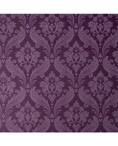 Vintage Flock: Purple Wallpaper from www.grahambrown.com