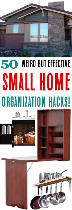 Small Space Organization Ideas! Hacks for decluttering your kitchen, living room, bedrooms, bathrooms, and more!