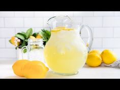 It's easy to make lemonade! Learn how to make lemonade: old fashioned, freshly squeezed homemade lemonade using real lemons. Includes video.