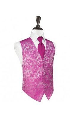 Watermelon Tapestry Tuxedo Vest