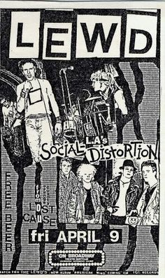 LEWD, SOCIAL DISTORTION and LOST CAUSE.