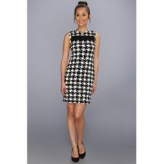 Calvin Klein - Houndstooth Dress CD3A2H38 (Black/Eggshell) - Apparel - product - Product Review