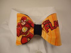 The groom might just have this... The Flash bow tie by sewfairycute on Etsy, $25.99