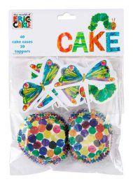 Rupsje nooit genoeg cupcake papiertjes met toppers