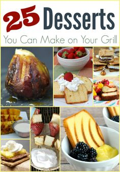 25 Grilled Dessert Ideas - The Taylor House 25 Grilled Dessert Ideas for Summer! Great Desserts, Healthy Dessert Recipes, Desserts On The Grill, Dessert Ideas, Delicious Desserts, Yummy Food, Barbecue Recipes, Grilling Recipes, Cooking Recipes