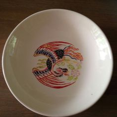 Phoenix painting on a ceramic bowl, June 2016 Phoenix Painting, Ceramic Bowls, June, Plates, Ceramics, Tableware, Licence Plates, Ceramica, Dishes