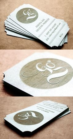 Beautiful Laser Cut And Engraved Business Card Design