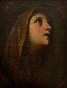 The Madonna at Prayer, Guido Reni. Italian Baroque Era Painter (1575 - 1642)