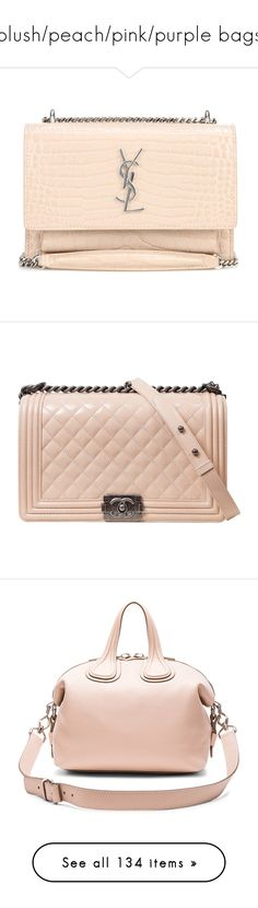 """""""blush/peach/pink/purple bags"""" by phytomsisa ❤ liked on Polyvore featuring bags, handbags, shoulder bags, pink shoulder bag, givenchy handbags, givenchy crossbody, light pink handbags, pink crossbody, givenchy and genuine leather purse"""