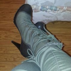 Army fatigue boots olive green and brown Olive  Green  nice Steve Madden Shoes Combat & Moto Boots