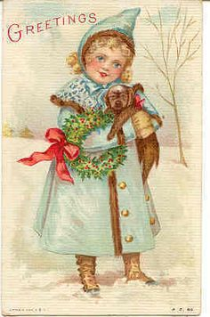 """"""" Christmas Greetings """" Vintage 1912 Post Card with a DB-USD-PM 1912 and in Excellenct condition. Karodens Vintage Post cards at www.bonanza.com/booths/karoden"""