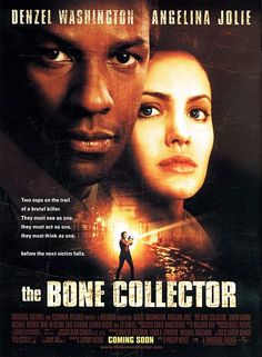 The Bone Collector.  Quadripeligic ex-cop Lincoln Rhyme was looking forward to his assisted suicide when he got the news: some sicko was abducting people in a taxi and leaving them to die in particularly sadistic ways. With time counting down between each abduction and possible death, Rhyme recruits rather-unwilling Amelia Donaghy, haunted by her cop father's suicide and thinking she's next, into working the crime scenes to track down the killer.