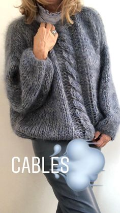 WANT SO BAD (in this color and everything -- just ignore the ludicrous price tag) Hand Knitted Sweaters, Mohair Sweater, Knit Cardigan, Gros Pull Mohair, Hand Knitting, Knitting Patterns, Granny Square Sweater, Crochet Clothes, Pulls