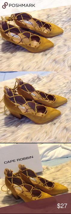 cbfe2c18852 NIB Suede Lace Up Ballet Heels Style Fran. A