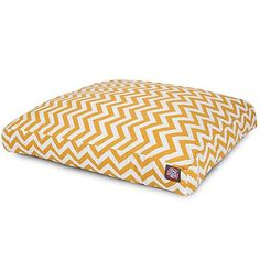 Outdoor Yellow Chevron Rectangle Pet Bed SM >>> Learn more by visiting the image link.