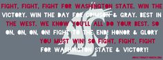 """WSU Fight Song"" Facebook cover photo 