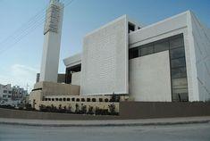 Mosquée Naji Al Hamshari – Amman, Jordan Mosque Architecture, Religious Architecture, Modern Architecture House, Concept Architecture, Architecture Details, Riyadh, Louvre Abu Dhabi, Beautiful Mosques, Construction