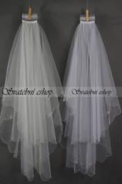 Dvouvrstvý svatební závoj - zvětšit obrázek