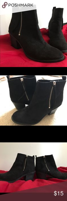 H&M Ankle Boots - Black Damage free. 9/10 condition. I've never experience unbearable pain wearing these. Size 8.5 H&M Shoes Ankle Boots & Booties