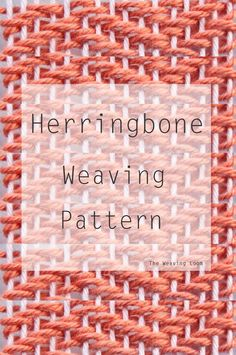 Continuing with my best of weaving techniques, I wanted to add another one of my favorite patterns, the Herringbone. This looks similar to a twill weave, but the difference is the pattern is the diago Weaving Textiles, Weaving Art, Wire Weaving, Weaving Patterns, Tapestry Weaving, Hand Weaving, Weaving Looms, Weaving Projects, Tear
