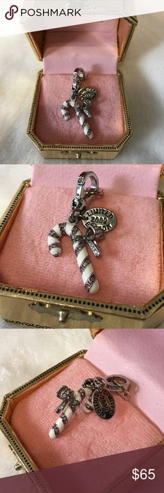 Juicy Couture - Candy Cane Charm Excellent Condition. Limited Edition 2009 Candy Cane Charm. No stones missing, perfect condition. Price is definitely negotiable and I'm always open to all offers. Juicy Couture Jewelry