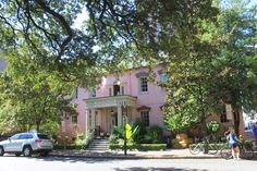 """The Olde Pink House - Savannah, GA. - make reservations days in advance & take a tour of all floors after the best meal in Savannah, with the warmest staff.  The theme is """"make yourself at home."""" (& of course, it's also haunted...BOO!)"""
