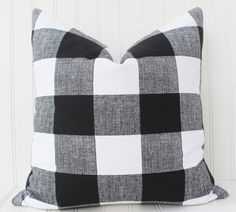 black and white buffalo check pillows