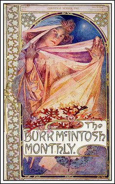 Alphonse Mucha. 1907 Burr McIntosh Monthly, Christmas