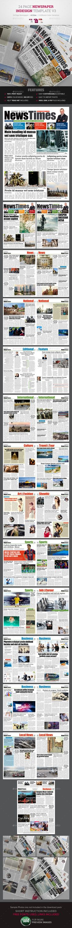 24 Page Newspaper InDesign v3 - Newsletters Print Templates Download here : https://graphicriver.net/item/24-page-newspaper-indesign-v3/12240434?s_rank=153&ref=Al-fatih