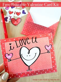 Valentine's Day Card Printable - super cute printable for you!