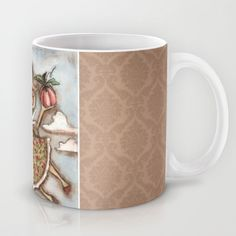 I like the mug because the filler pattern reminds me of my grandma's couch when I was little. :) Fairy in Training - Gracie Mug by Diane Duda Art - $15.00