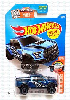 New 2016 Hot Wheels HW Hot Trucks '17 Ford F-150 Raptor Truck Blue #10 150/250 #HotWheels #Ford