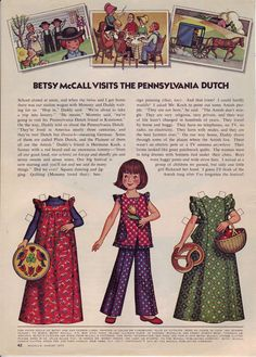 Betsy McCall visits the Pennsylvania Dutch...August 1973