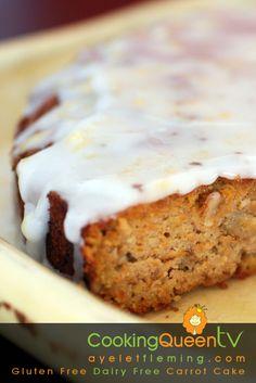 Gluten Free Dairy Free Carrot Cake