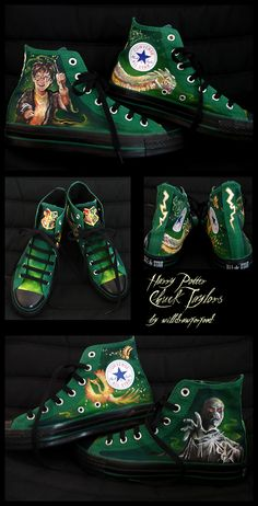 Harry Potter Chucks by ~willdrawforfood on deviantART