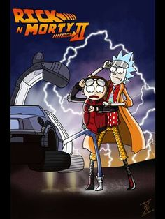 Rick and Morty... or is it Doc and Marty? Rick And Morty Crossover, Rick And Morty Poster, Rick Y Morty, Crazy Funny, Wallpaper Wallpapers, Back To The Future, Cool Stuff, Nerd Stuff, Pictures Images