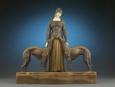 statuemania:  Eternal Friends, bronze and ivory,after Demetre Chiparus (1886-1947).
