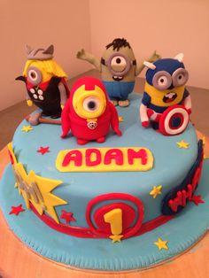 Avengers Birthday Cake  minions avengers  Pinterest  Birthday cakes ...
