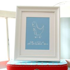 Personalised Dinosaur Canvas Print