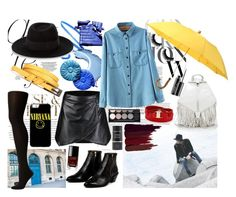 """""""Rainy Day Namjoon"""" by trixeypixey92 ❤ liked on Polyvore featuring Chanel, Envi, London Undercover, Maison Michel, SPANX, AZI, Rebecca Minkoff, Max Factor, Witchery and MAC Cosmetics"""