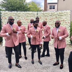 New fashion Pink Groomsman Suits Double Breasted Slim Fit Men Wedding Tuxedos Formal Party Prom Suits (Jacket+Pants) Men's Tuxedo Wedding, Wedding Men, Wedding Suits, Wedding Tuxedos, Wedding Ideas, Wedding Groom, Dream Wedding, Pink Groomsmen, Groom And Groomsmen Attire