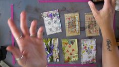 Thank you so much for taking the time to watch. I was so nervous making this tutorial, there are lots of them out there. This is just how I do it! Playing Card Crafts, Playing Cards Art, Atc Cards, Journal Cards, Junk Journal, Craft Cards, Altered Books, Altered Art, Invitaciones Shabby Chic