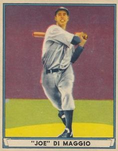 The Yankee Clipper's baseball cards and autographs remain among the most desirable in baseball history. Learn more about his best cards. New York Yankees Baseball, Baseball Art, Football And Basketball, Ny Yankees, Baseball Players, American Baseball League, Baseball Card Values, Baseball Pictures, Joe Dimaggio