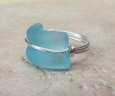 Seaglass Statement Ring